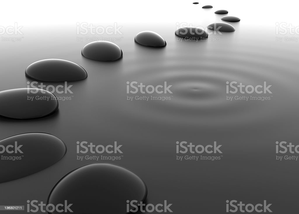Pebbles in Water stock photo