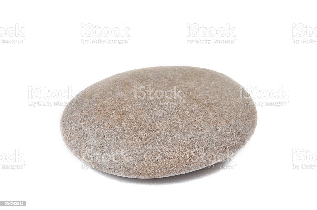 Pebbles isolated stock photo