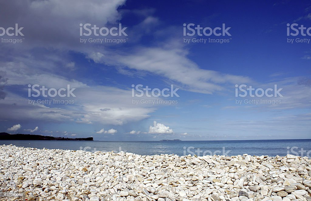 pebbles on beach royalty-free stock photo