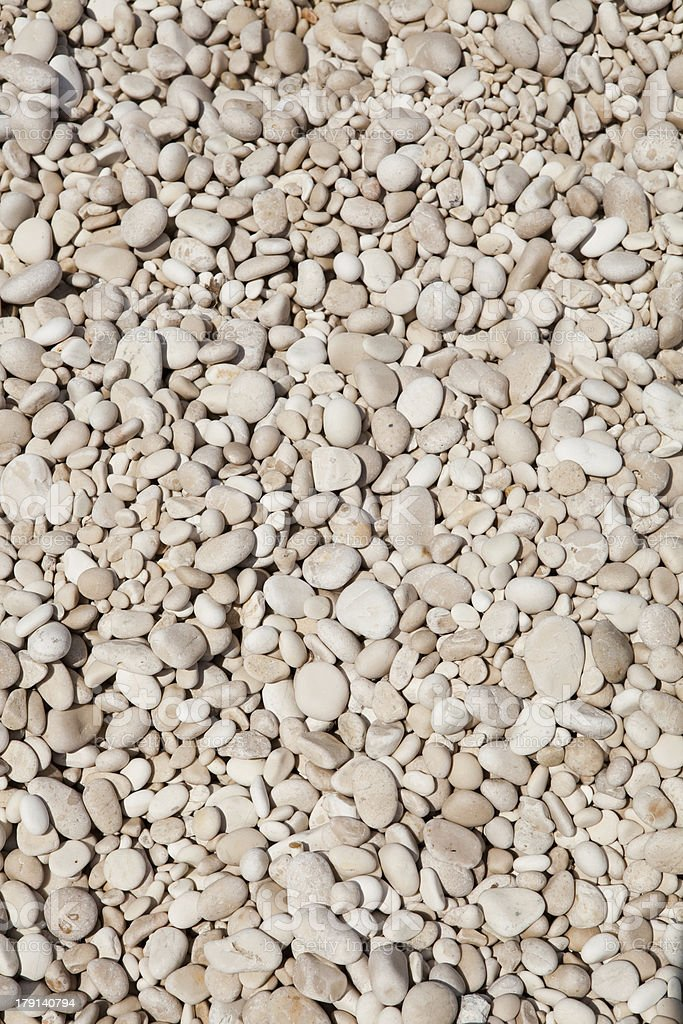 Pebbles on Myrtos beach royalty-free stock photo
