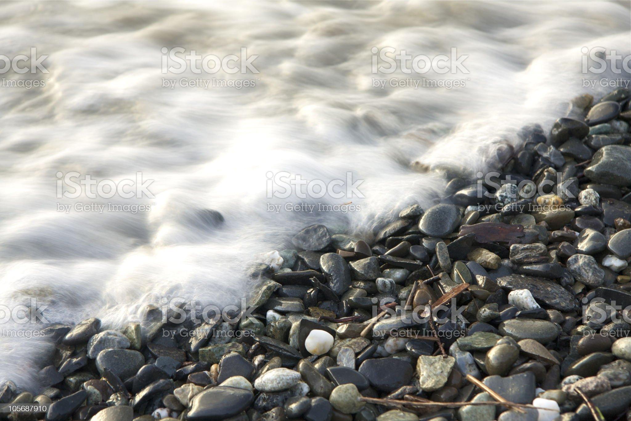Pebbles on the beach royalty-free stock photo