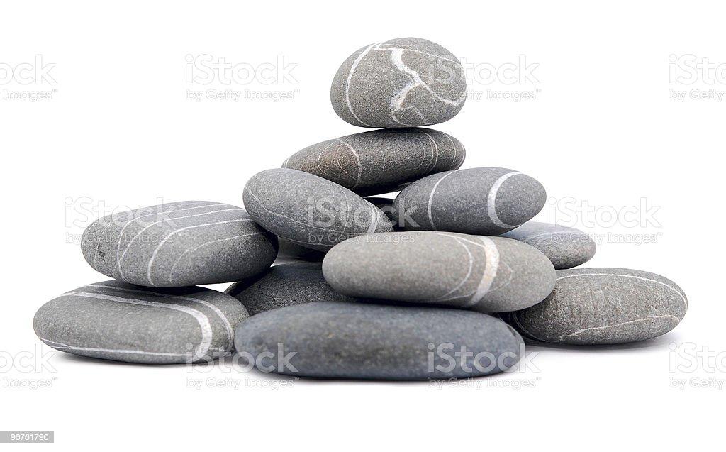 pebbles on white stock photo