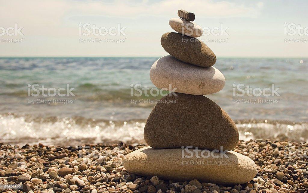 Pebbles Pyramid royalty-free stock photo