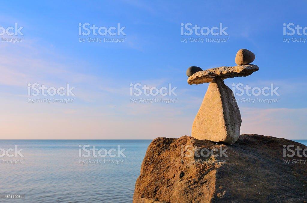 Pebbles scales stock photo