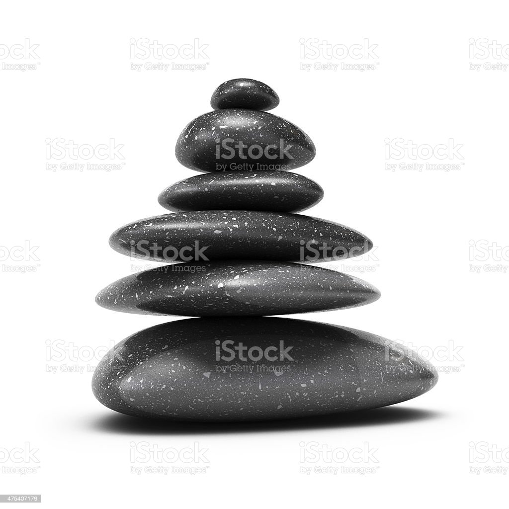 Pebbles stack, balance concept stock photo