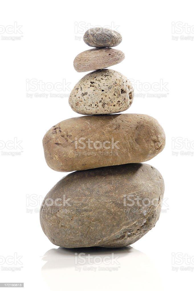 Pebbles Stack stock photo