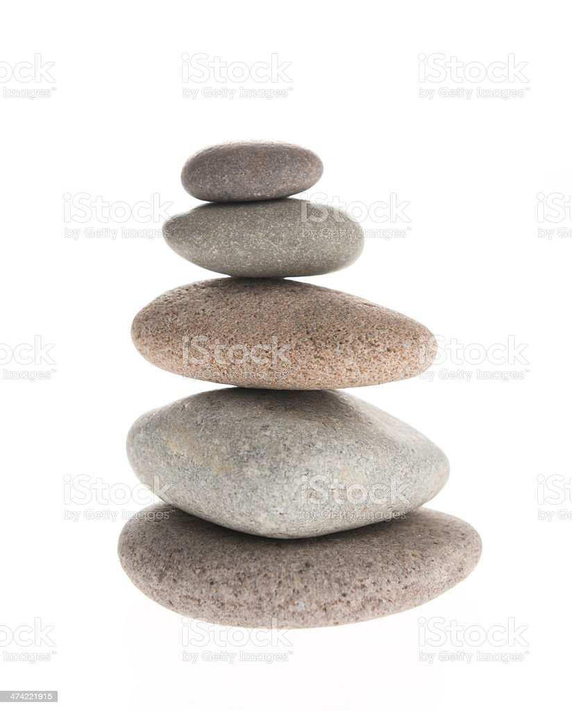 Pebbles Stack stock photo