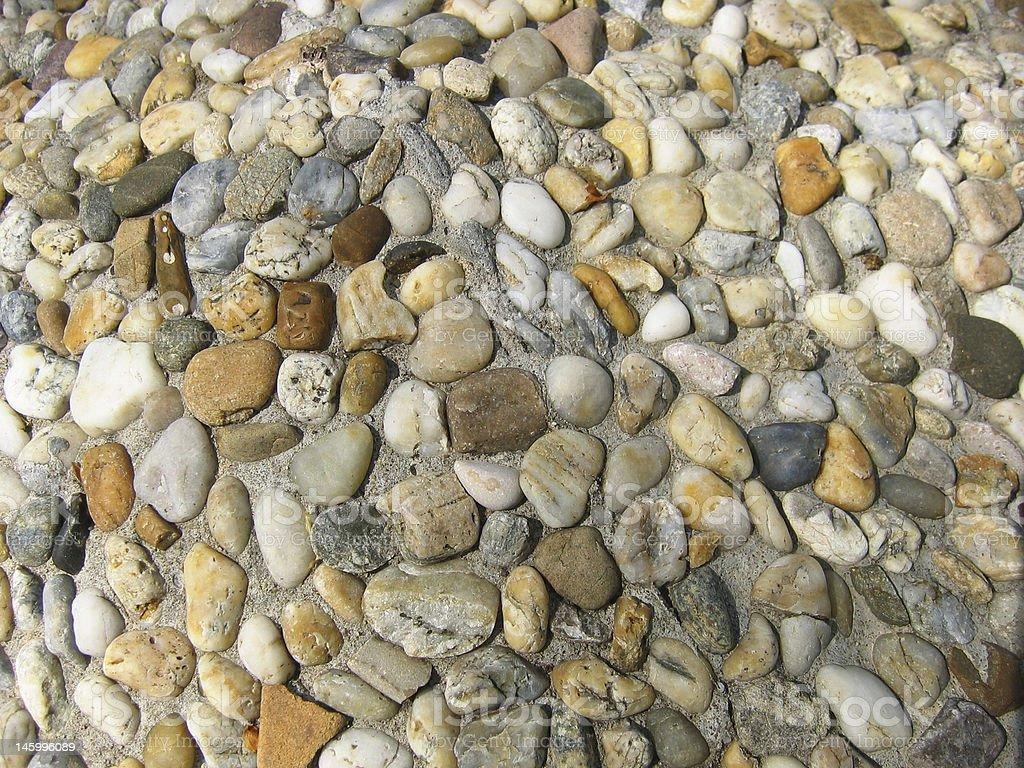 Pebbles surface stock photo
