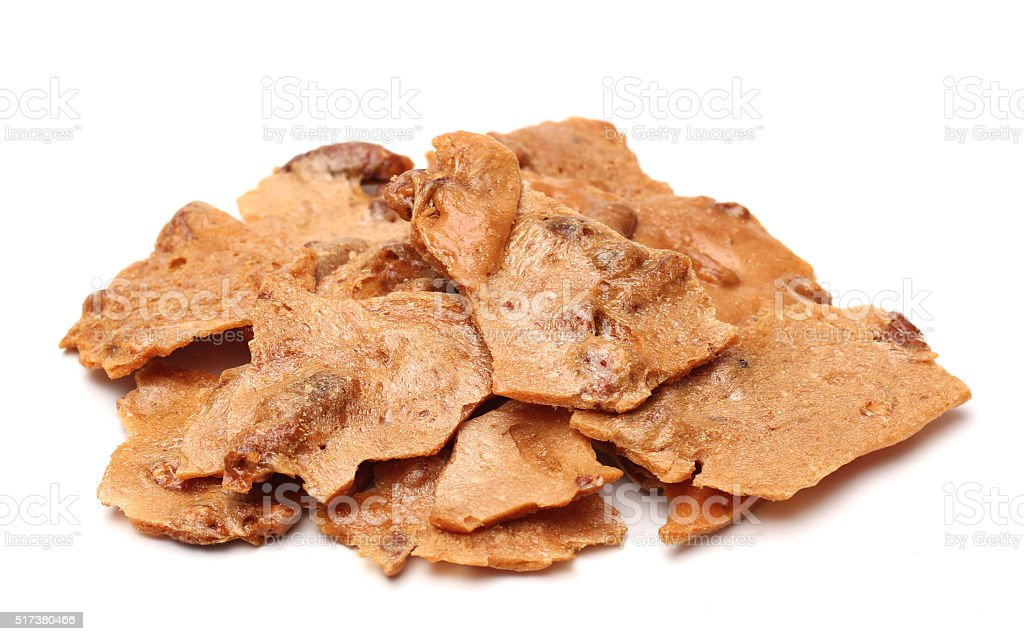 Pecan Brittle stock photo