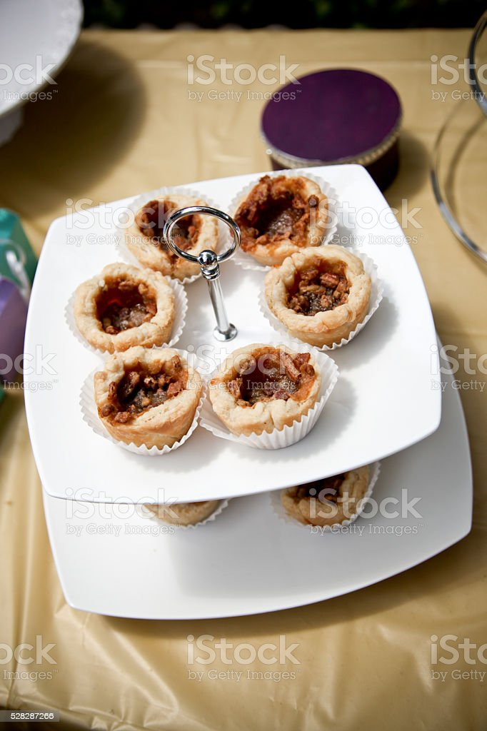 Pecan butter tarts stock photo