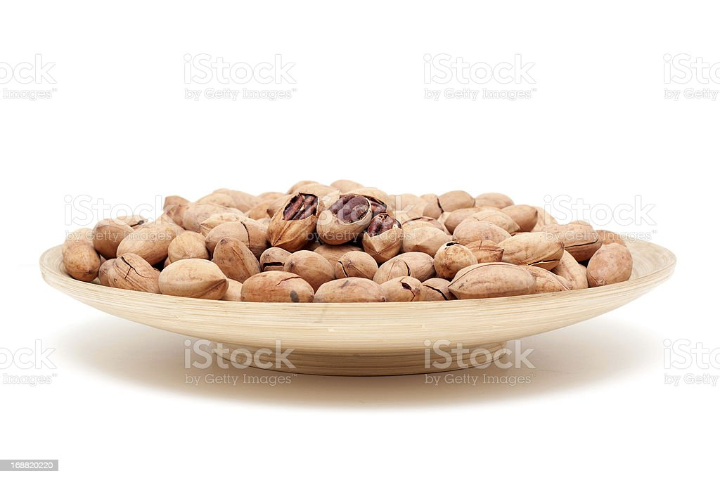 Pecan isolated on white background royalty-free stock photo