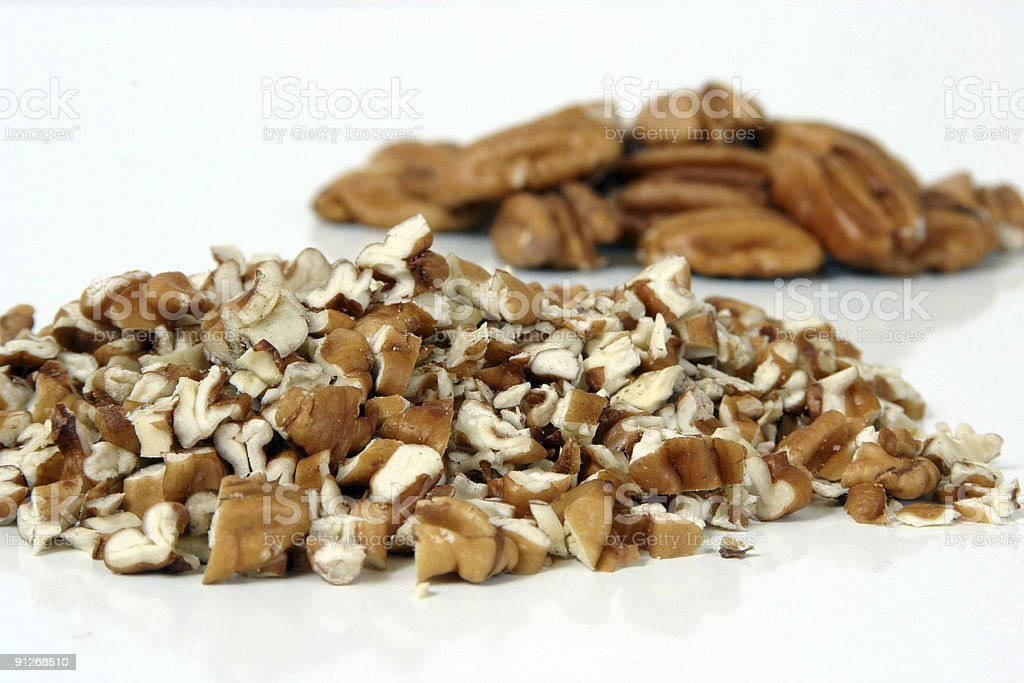 Pecans Chopped stock photo