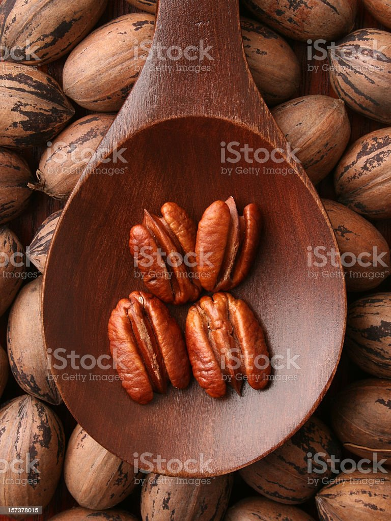 Pecans royalty-free stock photo