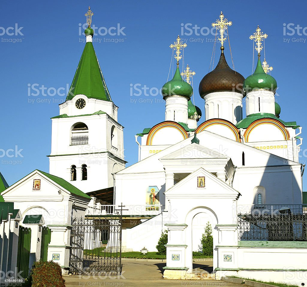 Pechersky Ascension Monastery Nizhny Novgorod in Russia stock photo