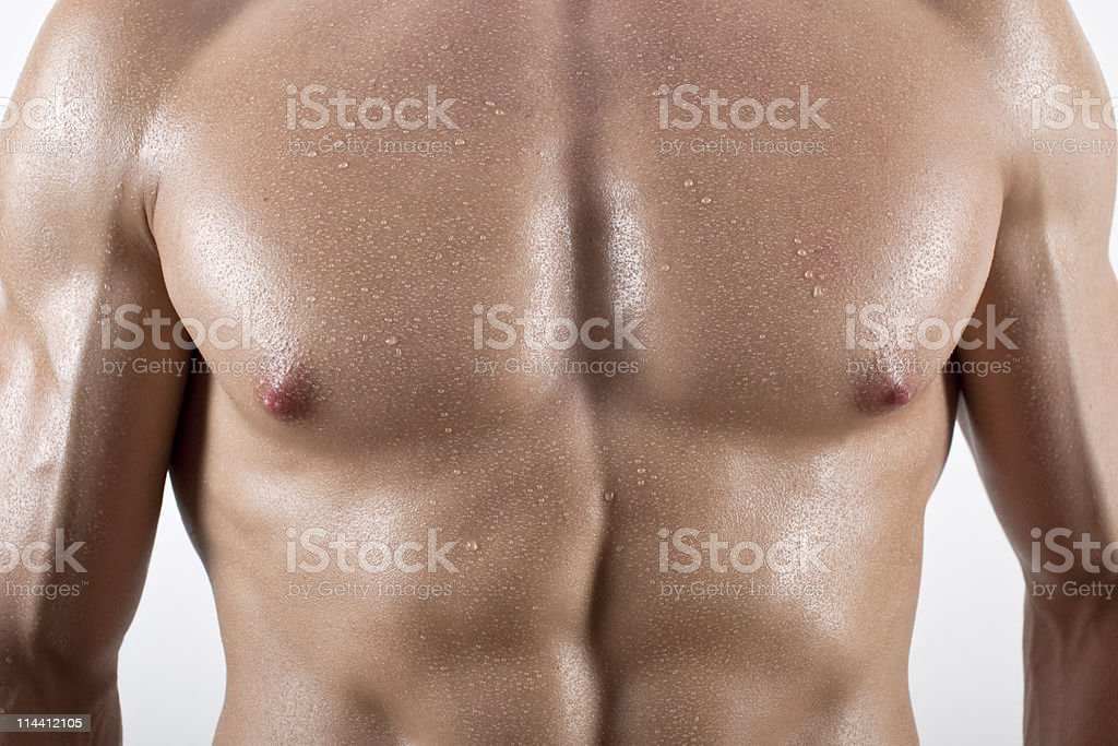 Pecs and abs royalty-free stock photo