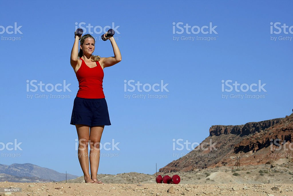 Pectoral Exercises (RedRockalypse) royalty-free stock photo