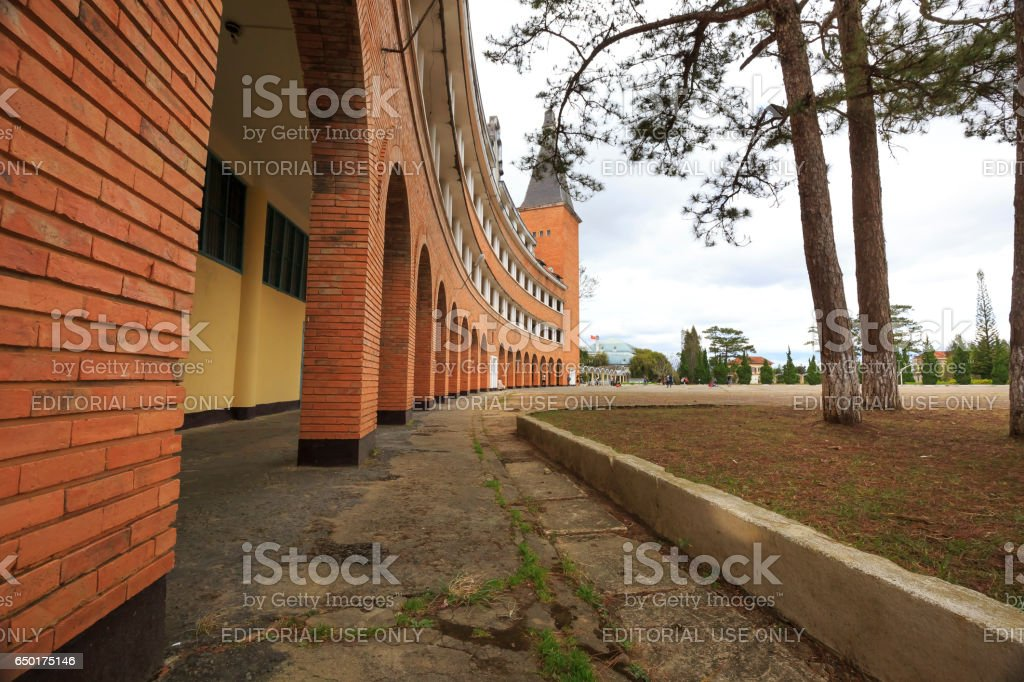 pedagogical college in the town of Dalat, Vietnam stock photo