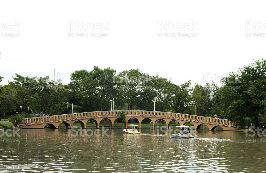 Pedal boat in park royalty-free stock photo