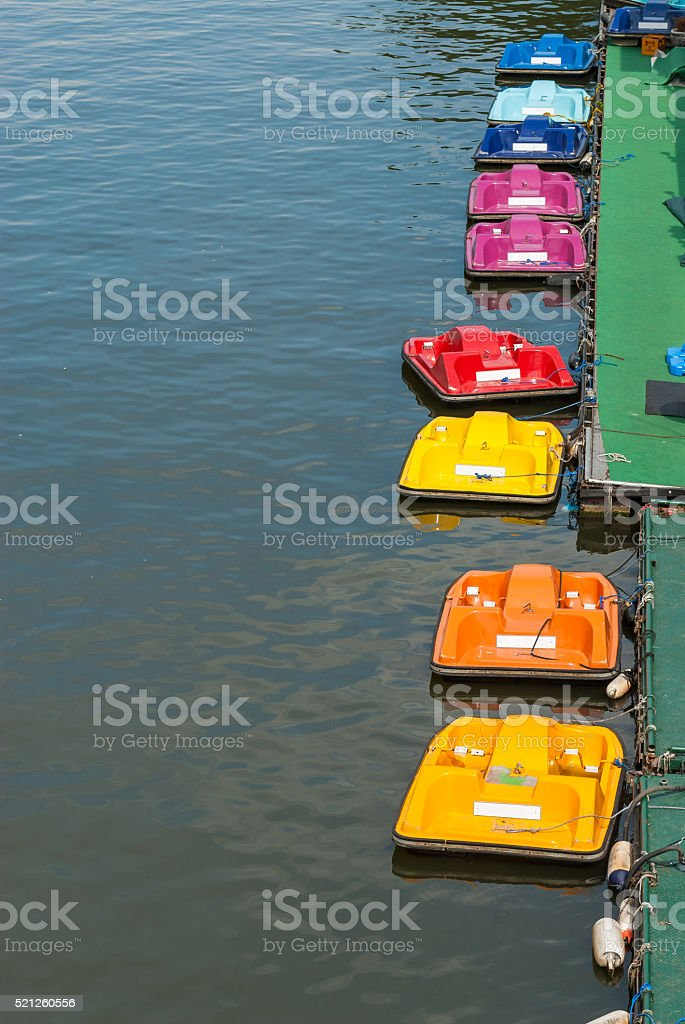 pedal boat stock photo