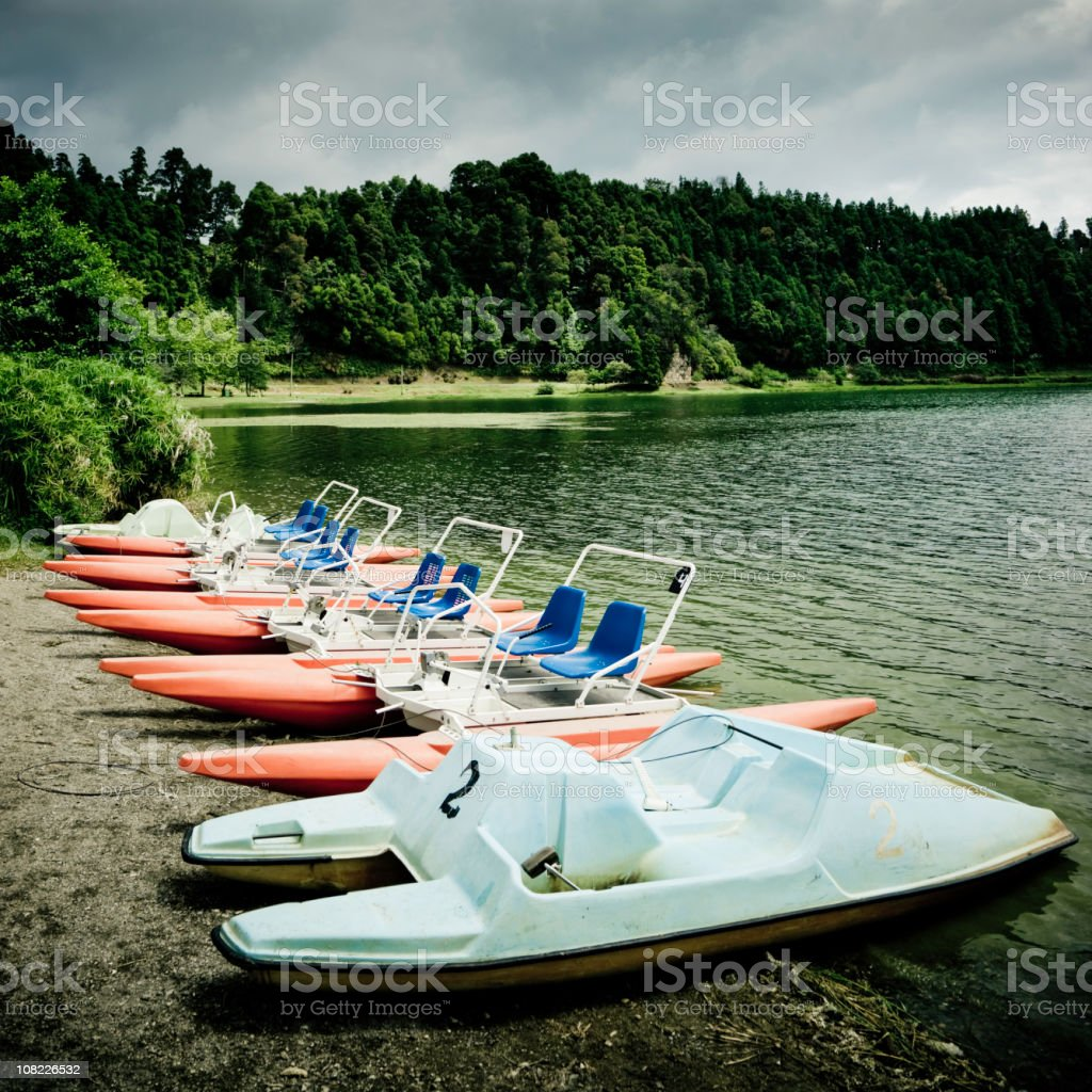 Pedal Boats royalty-free stock photo