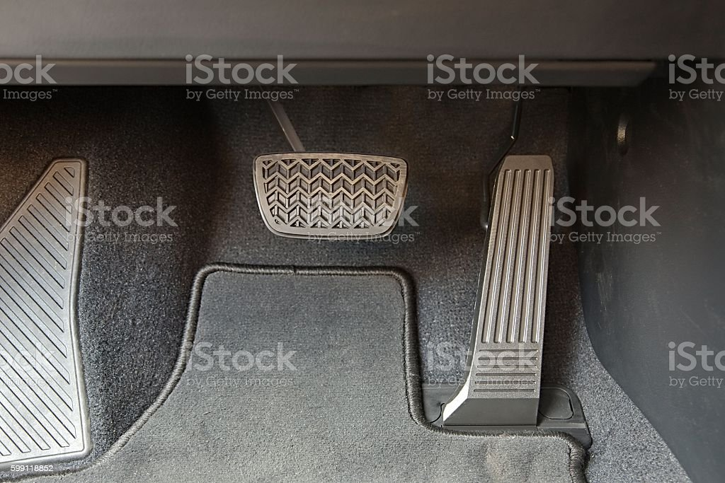 Pedals of a car stock photo