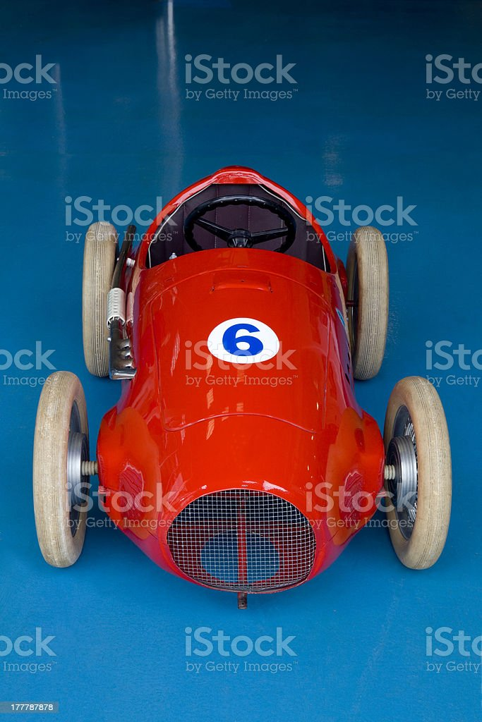 Pedals toy car. stock photo