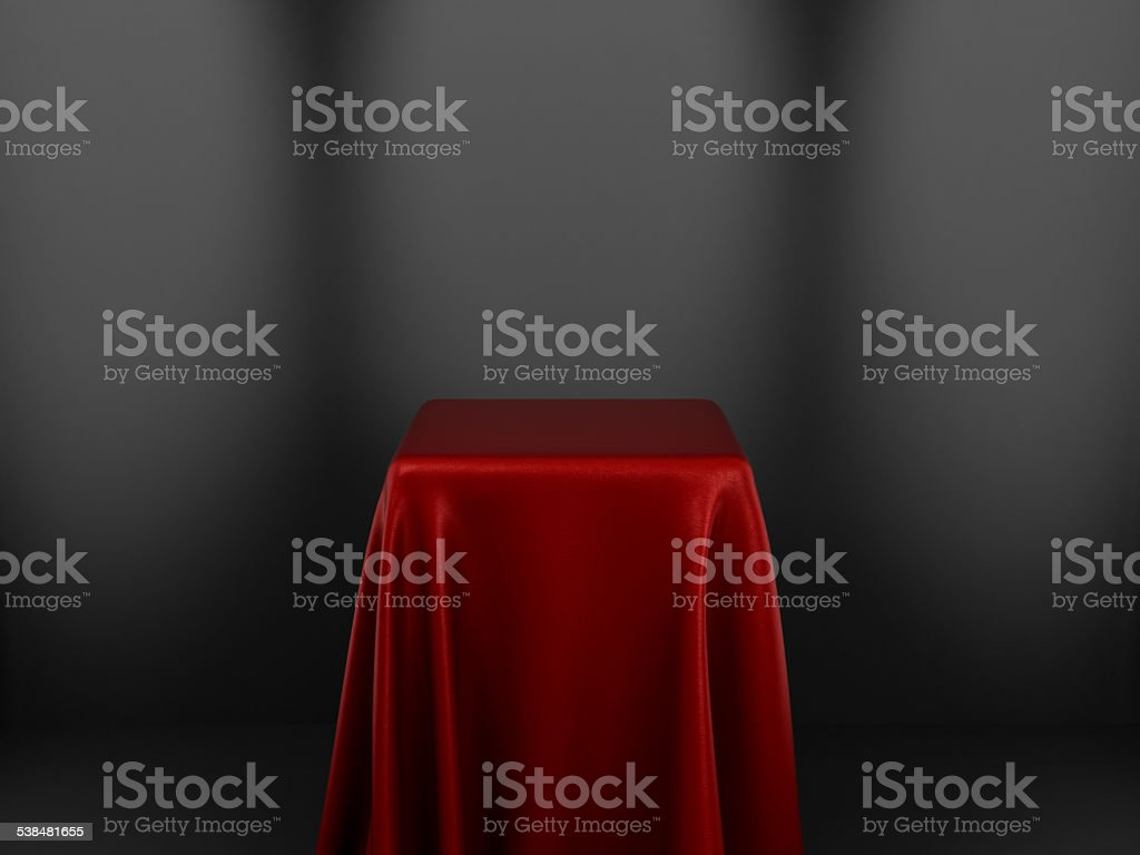 Pedestal Covered With Cloth stock photo