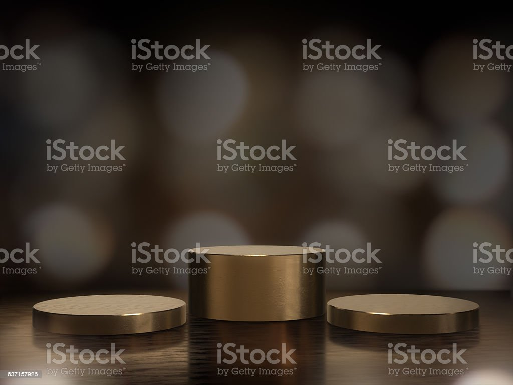 Pedestal for display,Platform for design,Blank product stand. stock photo