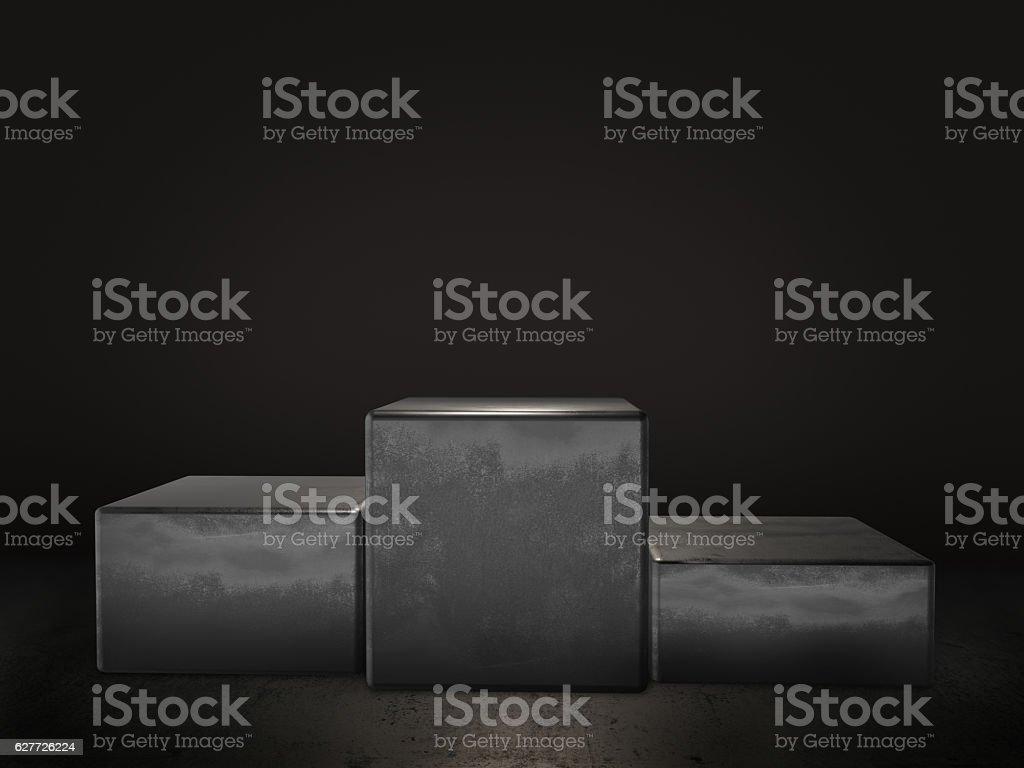 Pedestal for display,Platform for design,Blank product stand.3D rendering. stock photo