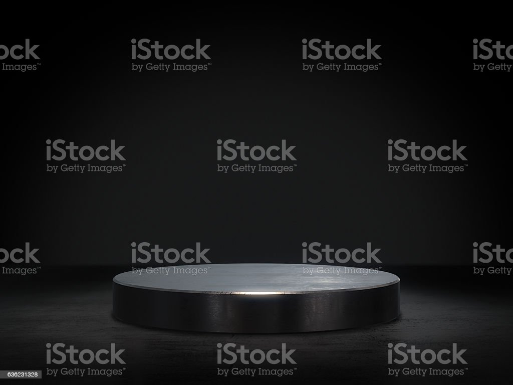 Pedestal for display,Platform for design,Blank product stand.3D rendering. stock photo