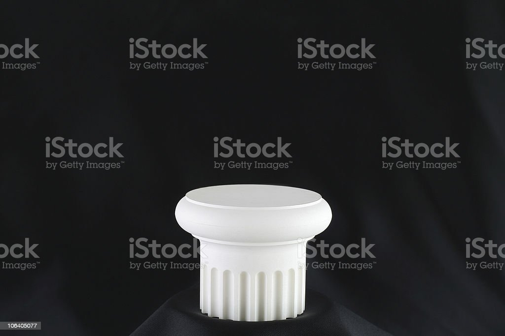 Pedestal on Black Satin 1 royalty-free stock photo