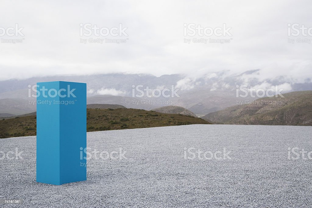 Pedestal outdoors with clouds stock photo