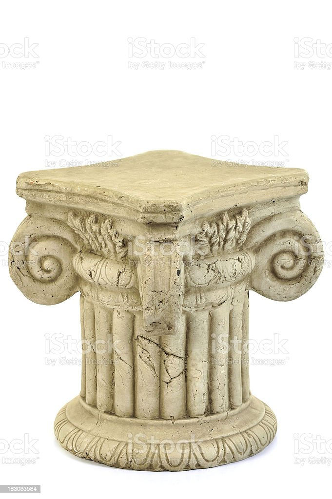 Pedestal stock photo