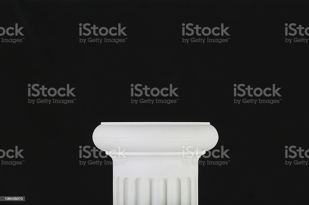 Pedestal with black background royalty-free stock photo