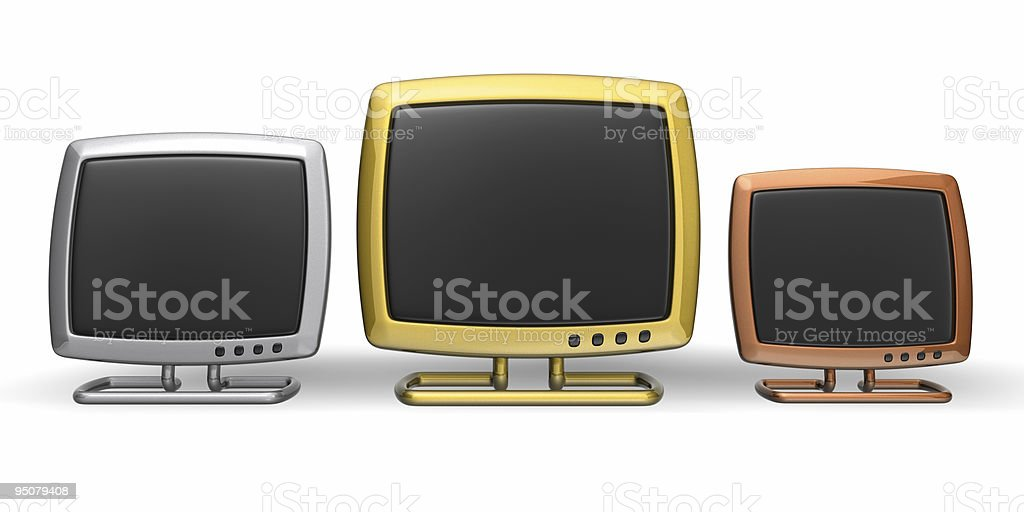 pedestal with monitors royalty-free stock photo