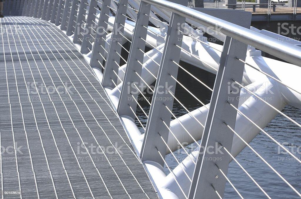 Pedestrian Bridge in False Creek South, Vancouver, British Columbia, Canada royalty-free stock photo