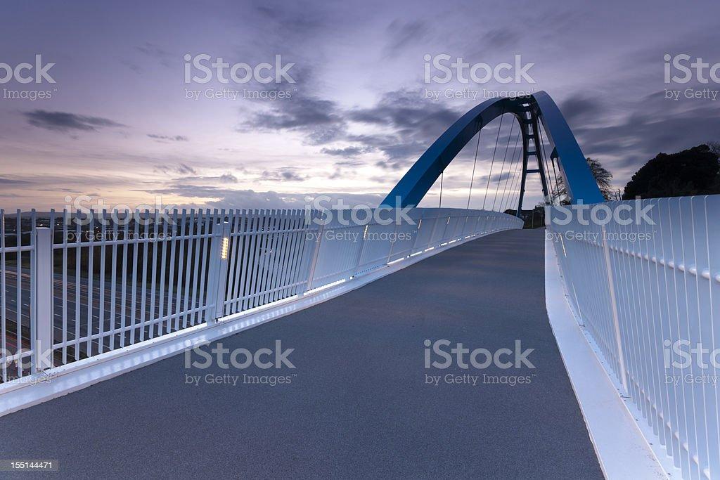 Pedestrian bridge over M5 motorway Exeter stock photo