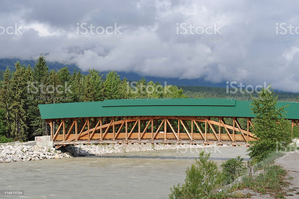 Pedestrian bridge stock photo
