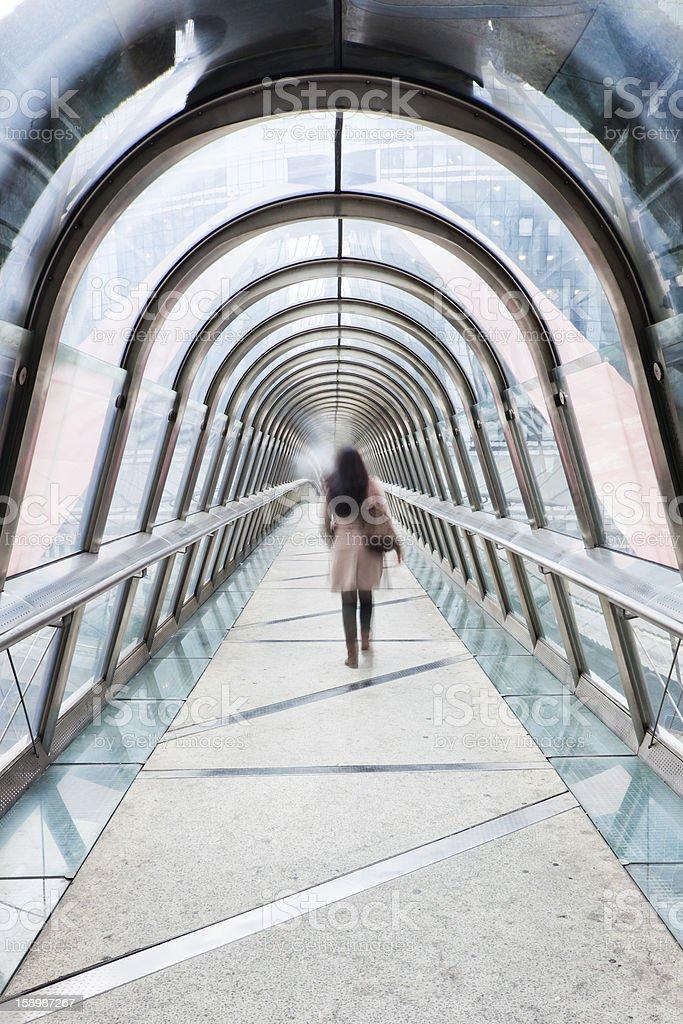 pedestrian bridge royalty-free stock photo