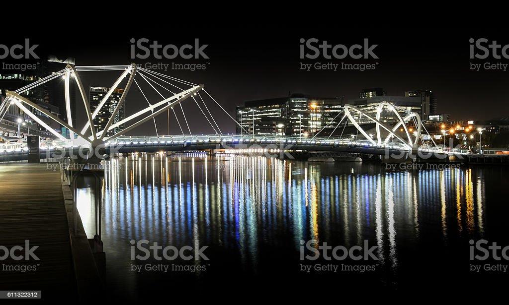 Pedestrian Bridge. stock photo