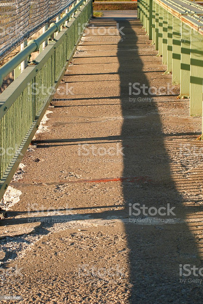 pedestrian bridge royalty-free stock photo