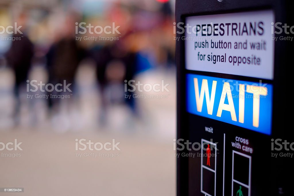 Pedestrian crossing at Oxford Circus, London stock photo