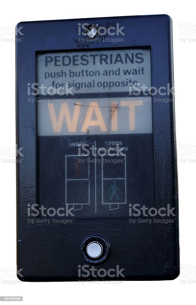 pedestrian crossing box isolated against white stock photo