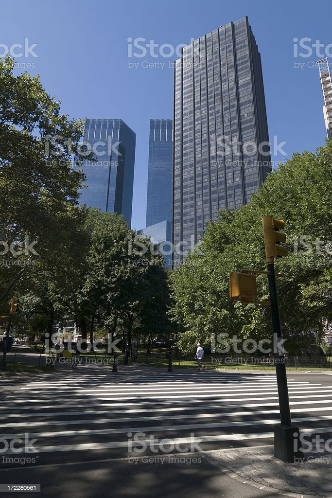 Pedestrian crossing in Central Park stock photo