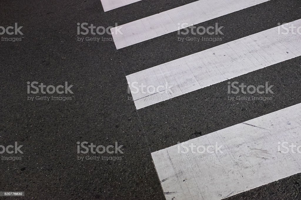pedestrian crossing on the road stock photo