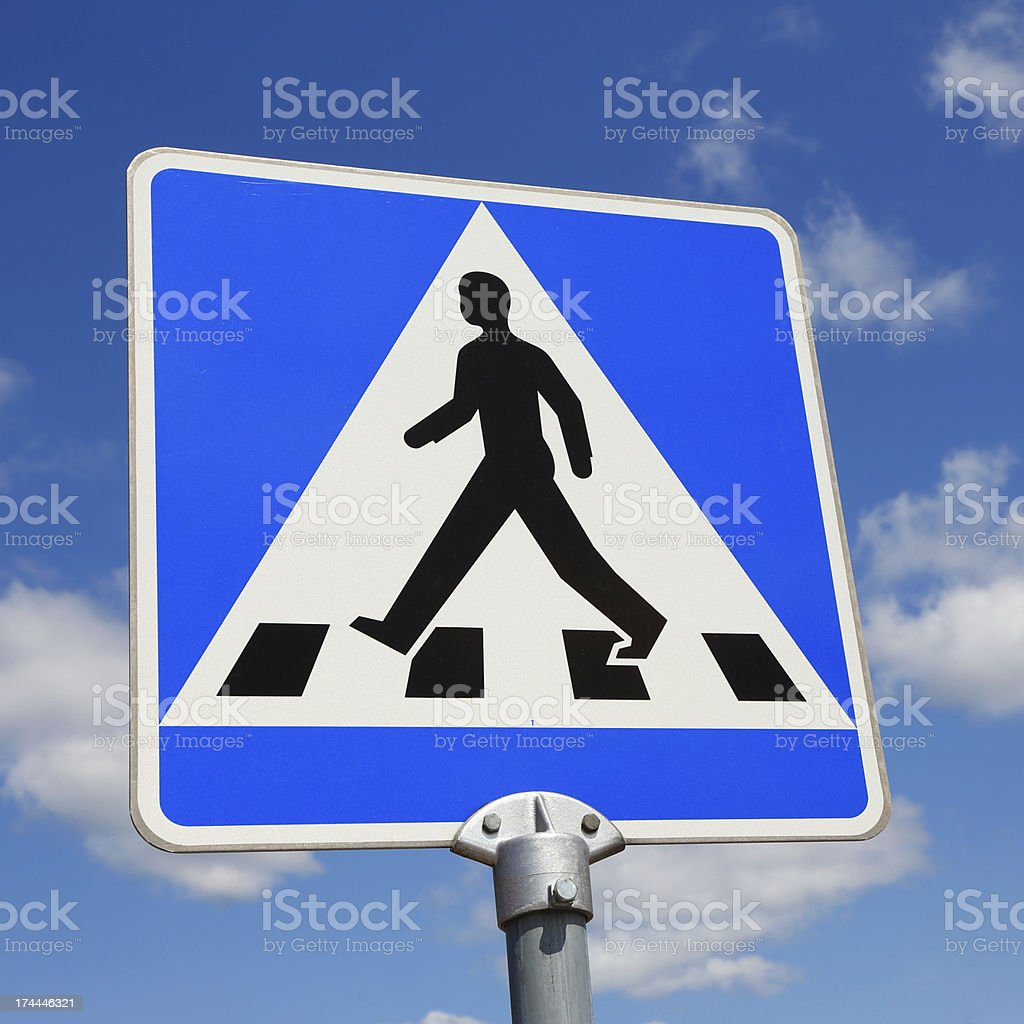 Pedestrian crossing royalty-free stock photo