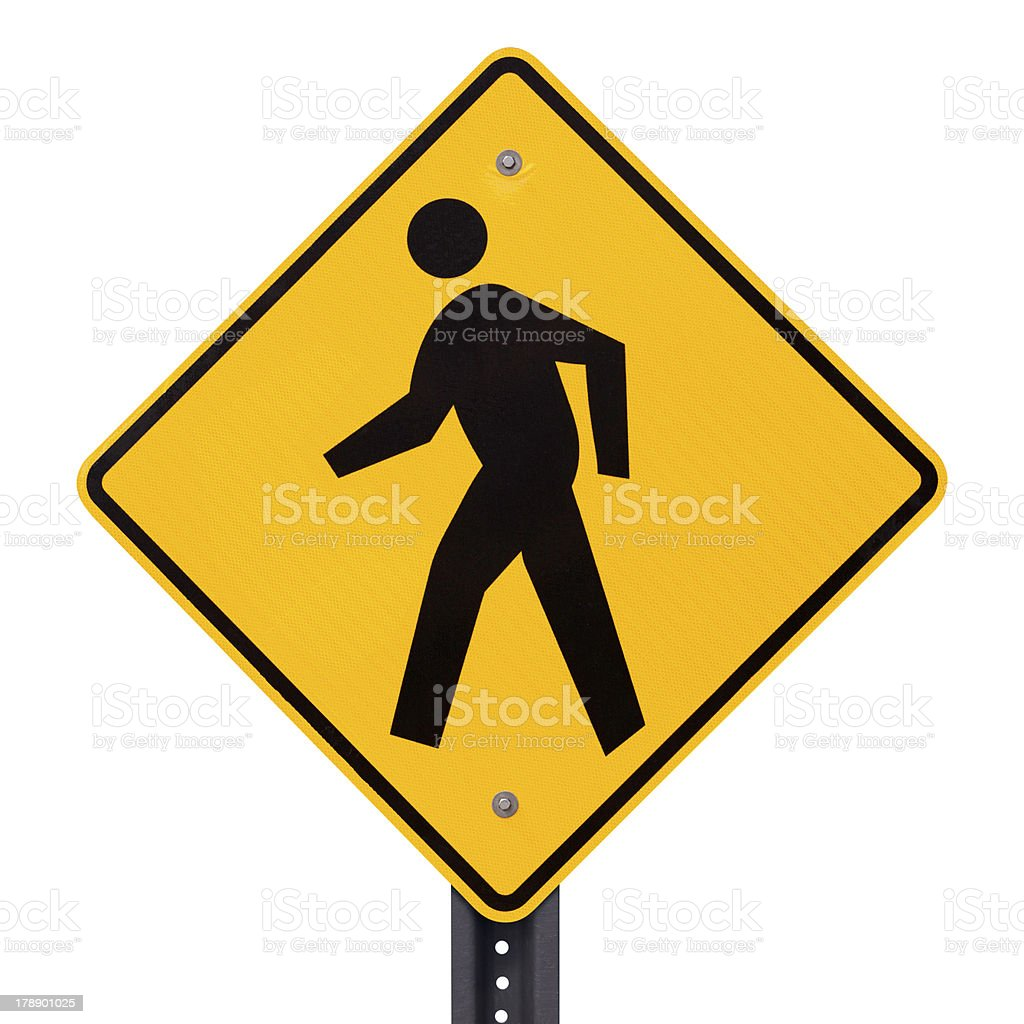 Pedestrian crossing sign royalty-free stock photo