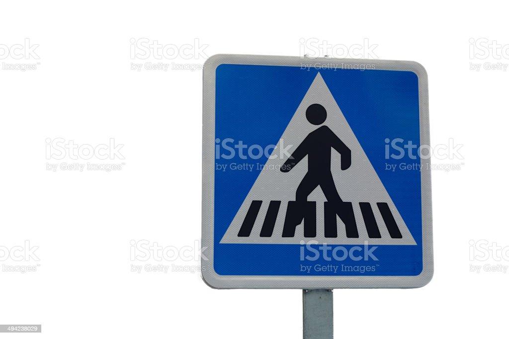 Pedestrian crossing signal stock photo