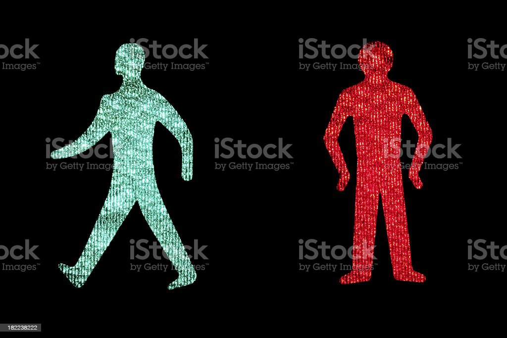 Pedestrian Crossing Signs stock photo