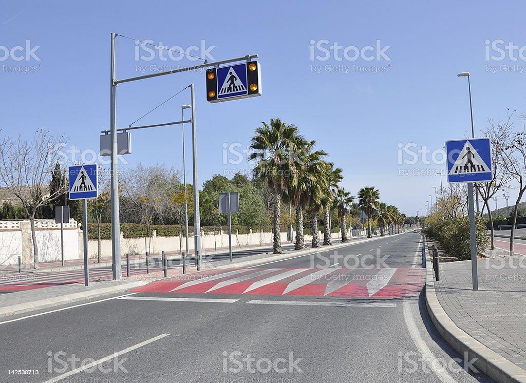 Pedestrian Crossing Speed Bump stock photo